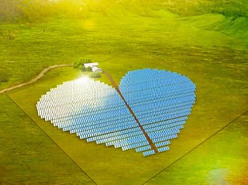 A Nuova Caledonia l'impianto fotovoltaico a forma di cuore