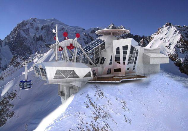 Funivia solare a Monte Bianco
