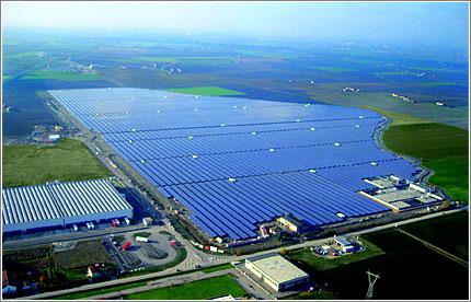 Parco fotovoltaico dell'Italia terzo al mondo